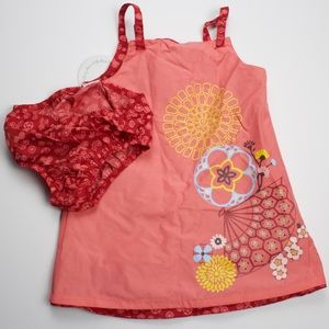 Baby girls dress w/bloomers, reversible!